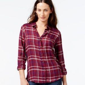 Lucky Brand | Plaid Flannel Button Back Shirt B25